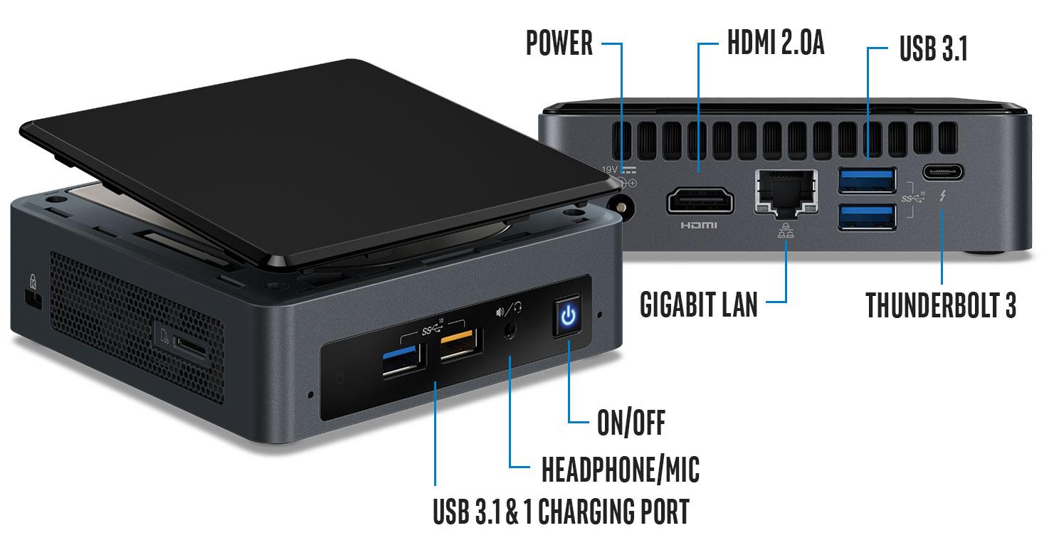 PLE Computers Intel NUC Gen8 Bean Canyon i3 Barebones Mini PC Desktop  Computers BOXNUC8I3BEK4 Intel
