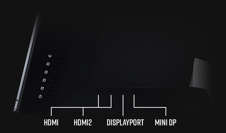 Monitor inputs highlighted